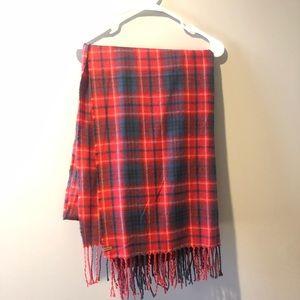 Eddie Bauer Red and Blue Winter Blanket Scarf